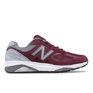 New balance men's 1540v3 (burgundy with grey, outside)