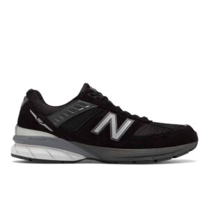 New balance men's 990v5 (black with silver, outside)
