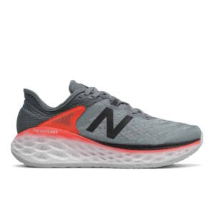 New balance men's fresh foam more v2 (gunmetal with neo flame & black, outside)