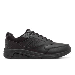New Balance Men's Leather 928v3 (Black, Outside)