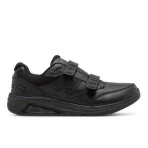New balance men's hook & loop leather 928v3 (black, outside)