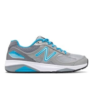 New Balance Women's 1540v3 (Silver with Polaris, Outside)