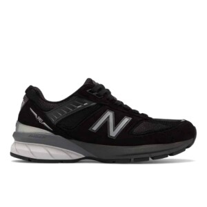 New Balance Women's 990v5 (Black with Silver, Outside)