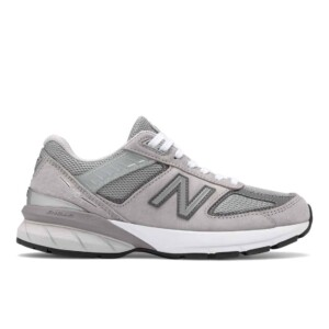 New Balance Women's 990v5 (Grey with Castlerock, Outside)