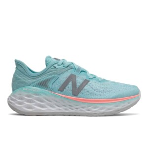 New Balance Women's Fresh Foam More v2 (Sea Salt with Newport Blue, Outside)