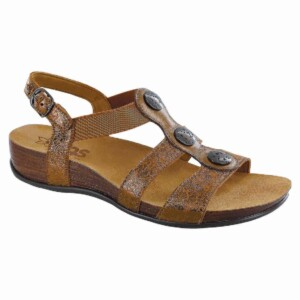 Sas womens clover bronze crackle 1